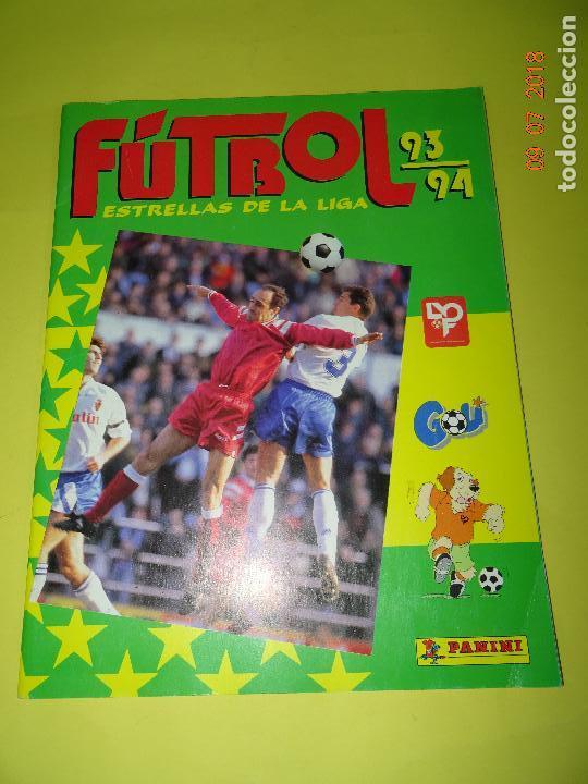 Coleccionismo deportivo: Antiguo Álbum Plancha de Futbol - Estrellas de la Liga 93-94 de PANINI - Foto 5 - 128295119