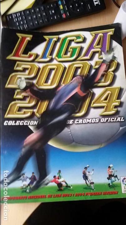 ÁLBUM DE CROMOS OFICIAL DE LA LIGA 2003-2004 - PANINI (Coleccionismo Deportivo - Álbumes y Cromos de Deportes - Álbumes de Fútbol Incompletos)