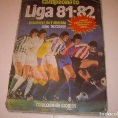 Coleccionismo deportivo: ALBUM FUTBOL LIGA 81 - 82. Lote 128557031