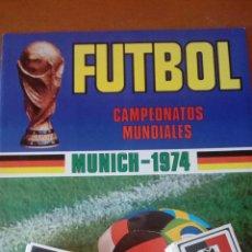 Colecionismo desportivo: ALBUM VACIO + 154 NUEVOS RUIZ ROMERO MUNICH 74. Lote 128704214