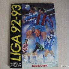 Coleccionismo deportivo: ESTE 92 93 ÁLBUM INCOMPLETO CON 382 CROMOS. Lote 129010323