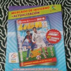 Coleccionismo deportivo: HOJAS VACÍAS MERCADO DE INVIERNO Y ACTUALIZACIÓN DEL ÁLBUM LIGA 2017-2018, EDICIONES ESTE 17-18. Lote 130651108