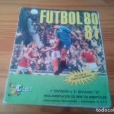 Coleccionismo deportivo: ALBUM DE FUTBOL ED CROMO CROM 80 81 CROMO LIGA FUTBOL 1980 19881 - VACIO CROMOS DESPEGADO. Lote 130785400