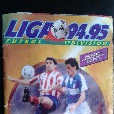 Coleccionismo deportivo: ÁLBUM CROMOS FÚTBOL ESTE CON CUÁDRUPLES 94-95 Y 500 99% COMPLETO 1994-1995 ORIGINAL DOBLE VERSIÓN. Lote 130958180