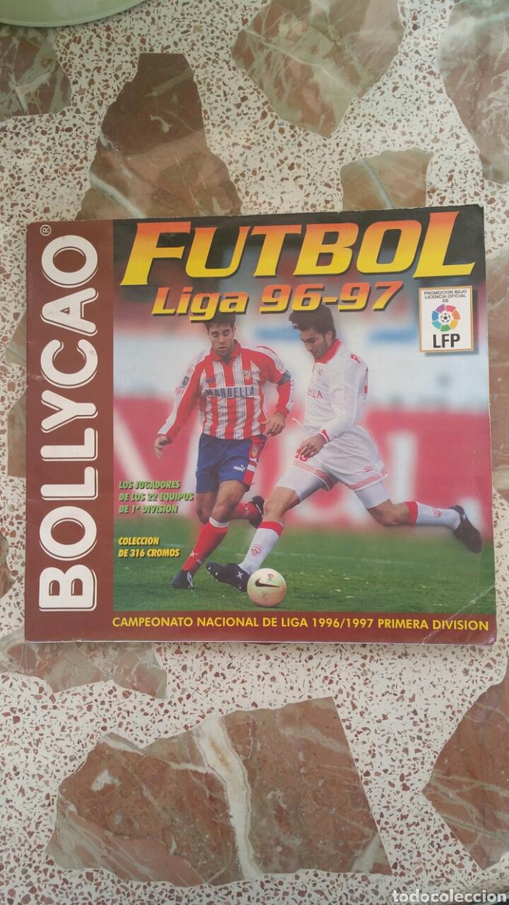 ALBUM CROMOS FÚTBOL LIGA 96 97 BOLLYCAO INCOMPLETO (Coleccionismo Deportivo - Álbumes y Cromos de Deportes - Álbumes de Fútbol Incompletos)