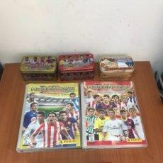 Coleccionismo deportivo: LOTE ALBUNES DE FÚTBOL CASI COMPLETOS. Lote 132308985