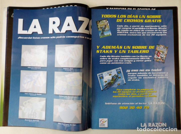Coleccionismo deportivo: ALBUM PLANCHA NUEVO 03 04 ESTE 2003 2004 - Foto 3 - 132531134