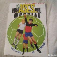 Coleccionismo deportivo: ALBUM VENLICO ASES DEL MUNDIAL 82 ESPAÑA CASI PLANCHA VACÍO BASTANTE NUEVO. LEER. Lote 133049322