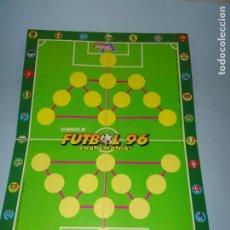 Coleccionismo deportivo: ANTIGUO CARTÓN ÁLBUM CAMPO CHAPAMANIA DEL CHICLE FUTBOL 96 DE VIDAL - AÑO 1996. Lote 133703306