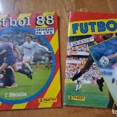 Coleccionismo deportivo: ALBUM FUTBOL 88 - PANINI COMPLETO Y ALBUM FUTBOL 87 PANINI INCOMPLETO. Lote 135201034