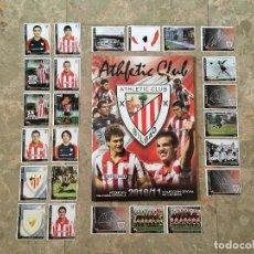 Coleccionismo deportivo: COLECCIÓN 24 CROMOS ATHLETIC CLUB BILBAO TEMPORADA 2010-2011 + 24 CROMOS. Lote 137133418