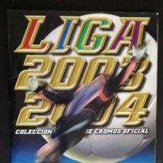 Coleccionismo deportivo: ALBUM DE FUTBOL 2003-04, ESTE: 324 CROMOS + 10 JOVENES CRACKS NUTELLA + HOJAS 20 EQUIPOS LA RAZON. Lote 181393147
