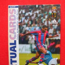 Coleccionismo deportivo: FC BARCELONA ALBUM CROMOS FUTBOL BARÇA COLECCIÓN CASI COMPLETA VIRTUAL CARDS DE GOLES MEMORABLES. Lote 136399986