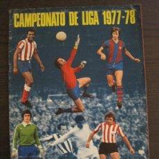 Coleccionismo deportivo: CAMPEONATO DE LIGA 1977 1978 - DISGRA - ALBUM INCOMPLETO CON ALGÚN RECORTE - VER FOTOS - (V-15.033). Lote 136404586