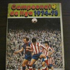 Coleccionismo deportivo: CAMPEONATO DE LIGA 1974 75 - DISGRA - ALBUM INCOMPLETO CON ALGUN RECORTE - VER FOTOS (V-15.034). Lote 136405166