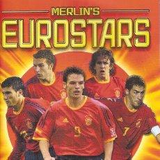 Coleccionismo deportivo: ALBUM MERLIN´ S EUROSTARS 2004 POCKET COLLECTION (VACÍO). Lote 136521938
