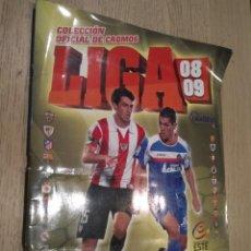 Coleccionismo deportivo: ALBUM CROMOS FUTBOL. COLECCIONES ESTE. CAMPEONATO LIGA 08-09. LE FALTAN 82 CROMOS. Lote 136822646