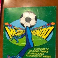 Coleccionismo deportivo: LOS MEJORES DEL MUNDO BOOMER ALBUM CON 55 CROMOS SE VENDEN SUELTOS. Lote 137335202