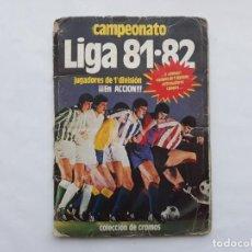 Coleccionismo deportivo: ALBUM FUTBOL CAMPEONATO LIGA 81-82 , 1981 1982 , CONTIENE 287 CROMOS SOLO PEGADOR POR ARRIBA. Lote 137598350
