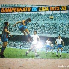 Coleccionismo deportivo: ÁLBUM FHER CAMPEONATO DE LIGA 1973-74 INCOMPLETO. Lote 137861394