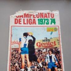 Coleccionismo deportivo: TAPAS ALBUM LIGA ESTE 73 74 1973 1974. Lote 138108926