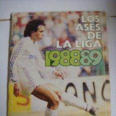Coleccionismo deportivo: ALBUN DE CROMOS LOS ASES DE LA LIGA 88-89 DE AS INCOMPLETO (#). Lote 138629098