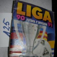 Coleccionismo deportivo: ANTIGUO ALBUM DE FUTBOL LIGA 90-91 (TRAE GRAN CANTIDAD DE CROMOS Y FALTAN +- 38 ). Lote 138906430