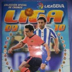 Coleccionismo deportivo: ÁLBUM INCOMPLETO DE FÚTBOL LIGA 2009/10 NUEVO SOLO LLEVA LOS 4 CROMOS DE ORIGEN SIN PEGAR. Lote 70415825