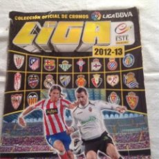 Coleccionismo deportivo: ALBUM CROMOS FÚTBOL LIGA 2012-13 CON 390 CROMOS PEGADOS, INCOMPLETO. Lote 140489730