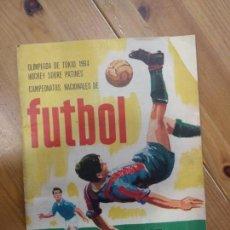 Coleccionismo deportivo: CAMPEONATOS NACIONALES DE FÚTBOL 1965 INCOMPLETO. RUIZ ROMERO. OLIMPIADA DE TOKIO 1964 HOCKEY. Lote 140490738