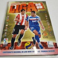 Coleccionismo deportivo: ALBUM DE CROMOS FUTBOL LIGA 2008 - 2009 EDITORIAL ESTE. Lote 141146110