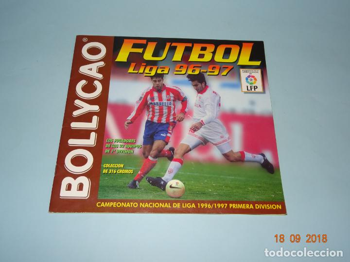 ANTIGUA ÁLBUM FUTBOL LIGA 96-97 DE BOLLYCAO CAMPEONATO NACIONAL DE LIGA 1996 1997 (Coleccionismo Deportivo - Álbumes y Cromos de Deportes - Álbumes de Fútbol Incompletos)
