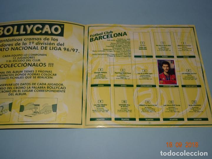 Coleccionismo deportivo: Antigua Álbum FUTBOL LIGA 96-97 de BOLLYCAO Campeonato Nacional de Liga 1996 1997 - Foto 3 - 142598210