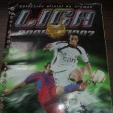 Coleccionismo deportivo: ALBUM INCOMPLETO.LIGA 2006/2007.FALTAN 8 CROMOS Y 3 ULTIMOS FICHAJES.CON 71 CROMOS DOBLES, 8 COLOCAS. Lote 142652074
