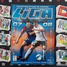 Coleccionismo deportivo: PERFECTO ALBUM LIGA ESTE 2007 - 2008. + 337 CROMOS SIN PEGAR. 28 FICHAJES. Lote 142756422