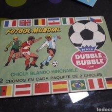 Coleccionismo deportivo: ÁLBUM PEGATINAS CHICLE DUBBLE BUBBLE FÚTBOL MUNDIAL. Lote 143181245