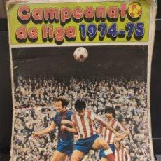 Coleccionismo deportivo: ÁLBUM CAMPEONATO DE LIGA 74-75 DISGRA CON 247 CROMOS. Lote 143208357