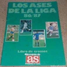 Coleccionismo deportivo: ALBUM DE CROMOS LOS ASES DE LA LIGA 86 - 87 LIBRO DE CROMOS AS AÑO 1987. Lote 143389026
