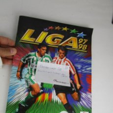 Coleccionismo deportivo: LOTE 10 ALBUM CROMOS FUTBOL ESTE 1997 1998. Lote 143640702