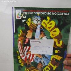 Coleccionismo deportivo: LOTE 3- ALBUM CROMOS FUTBOL ESTE 2001 2002 90% COMPLETO. Lote 143672690