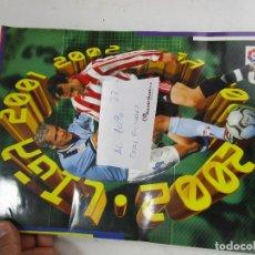 Coleccionismo deportivo: LOTE 22, ALBUM CROMOS FUTBOL ESTE 2001 2002 AL 90% COMPLETO POCOS FICHAJES. Lote 143710074