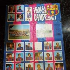 Coleccionismo deportivo: KEISA - BARÇA CAMPEON - POSTER ÁLBUM INCOMPLETO. Lote 143818298