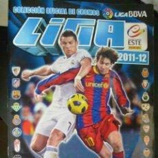 Coleccionismo deportivo: ALBUM DE CROMOS DE FUTBOL , LIGA 2011 - 12 . EDICIONES ESTE . CON 387 CROMOS PEGADOS. Lote 144596982
