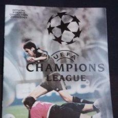 Coleccionismo deportivo: ALBUM VACIO UEFA CHAMPIONS LEAGUE 2000 2001 - PANINI -. Lote 145273850