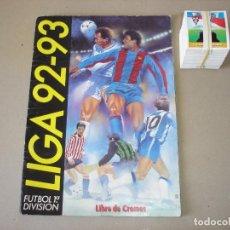 Coleccionismo deportivo: EDICIONES ESTE. LIGA 92-93 ALBUM CON 60 CROMOS PEGADOS + LOTE DE 223 CROMOS DISTINTOS 1992-1993. Lote 145493394