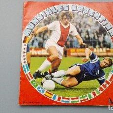 Coleccionismo deportivo: ALBUM FUTBOL EDIC FHER DISGRA MUNDIAL ARGENTINA 78 1978 CON 55 CROMOS BUENISIMA CONSERVACION BARATO!. Lote 145962814