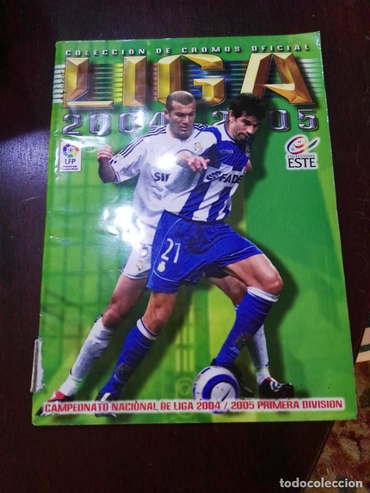 ALBUM DE CROMOS LIGA ESTE 2004 - 2005 04 - 05 CON 231 PEGADOS (Coleccionismo Deportivo - Álbumes y Cromos de Deportes - Álbumes de Fútbol Incompletos)