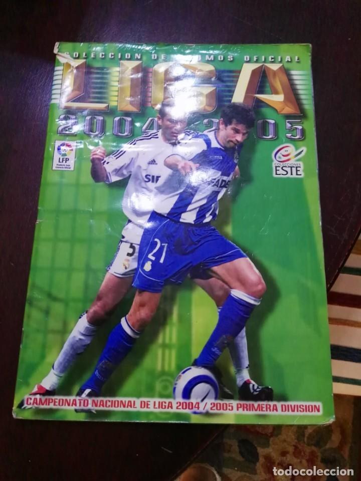 ALBUM DE CROMOS LIGA ESTE 2004 - 2005 04 - 05 CON 158 PEGADOS (Coleccionismo Deportivo - Álbumes y Cromos de Deportes - Álbumes de Fútbol Incompletos)