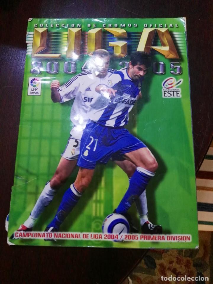 ALBUM DE CROMOS LIGA ESTE 2004 - 2005 04 - 05 CON 283 PEGADOS (Coleccionismo Deportivo - Álbumes y Cromos de Deportes - Álbumes de Fútbol Incompletos)