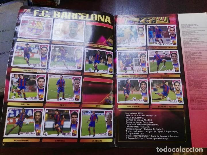 Coleccionismo deportivo: album de cromos liga este 2004 - 2005 04 - 05 con 283 pegados - Foto 2 - 146004994